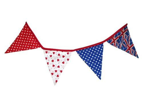 Royal wedding bunting in red, white & blue